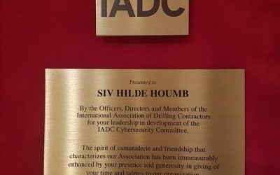 Secure-NOK's Founder and CTO Dr. Siv Hilde Houmb received IADC's exemplary service award